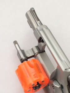 Wall-Saver safety cylinder on revolver.