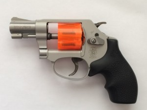 Revolver with Wall-Saver safety cylinder installed.