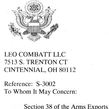 So A Fight It Is, Then: Leo Combat LLC v. U.S. State Dept.